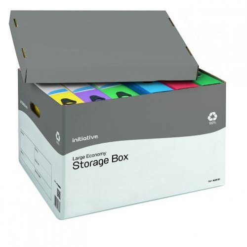 Initiative Large Economy Storage Box [Pack of 10]