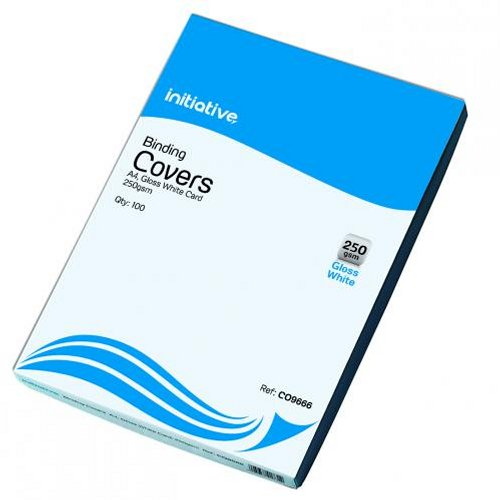Initiative Cardboard Binding Covers A4 250g White [Pack of 100]