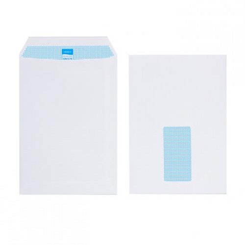 Initiative C5 Envelopes Window Pocket Self Seal 90g White [Pack of 500]