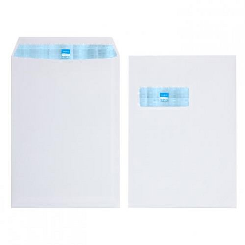 Initiative C4 Envelopes Window Self Seal 100g White [Pack of 250]