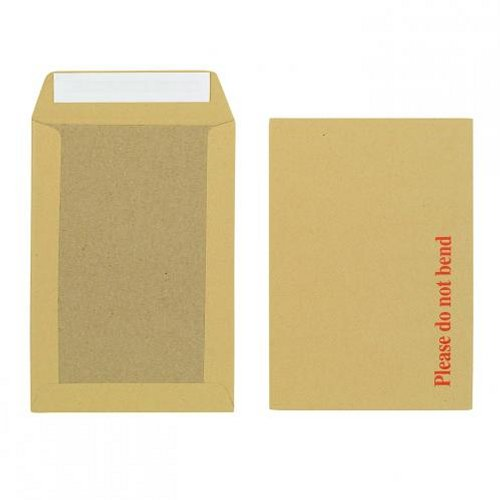 Initiative 250x176mm Boardback Envelopes Peel and Seal 115g Manilla [Pack of 125]