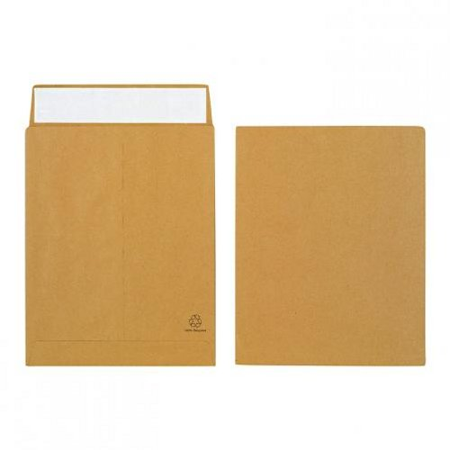 Initiative 305x254x25mm Gusset Envelopes Peel and Seal 120g Manilla [Pack of 125]