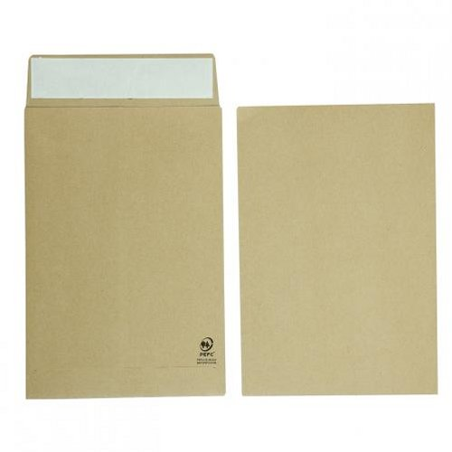 Initiative C4 25mm Gusset Envelopes Peel and Seal 120g Manilla [Pack of 125]