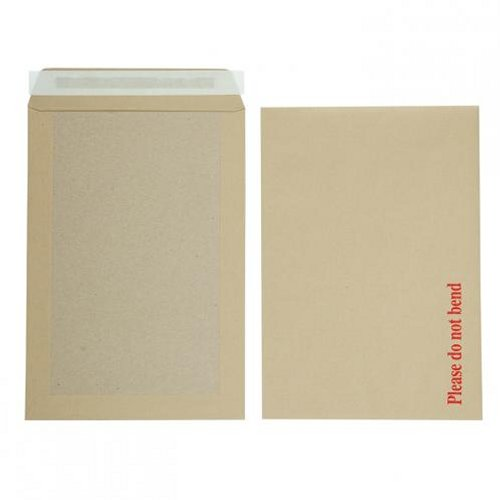 Initiative C4 Boardback Envelopes Peel and Seal 115g Manilla [Pack of 125]