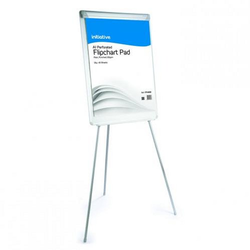 Initiative Flipchart Easel with Drywipe Surface and Pen Tray