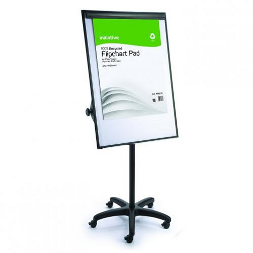 Initiative Mobile Magnetic Flipchart Easel 700x1000mm