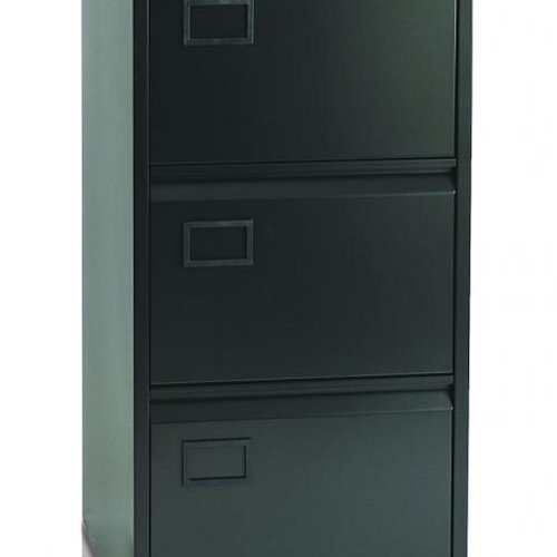 Initiative Steel Filing Cabinet 4 Drawer Black