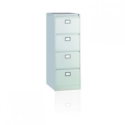 Initiative Steel Filing Cabinet 4 Drawer Goose Grey