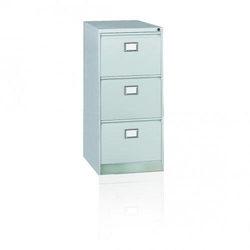 Initiative Steel Filing Cabinet 3 Drawer Goose Grey