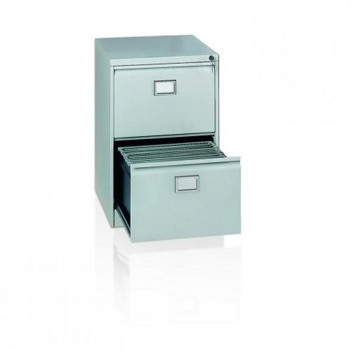 Initiative Steel Filing Cabinet 2 Drawer Coffee and Cream