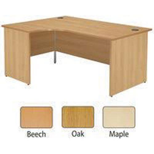Jemini 1800mm Left Hand Panel End Radial Desk Beech