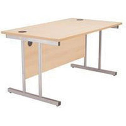 Jemini 1600mm Cantilever Desk Rectangular Maple