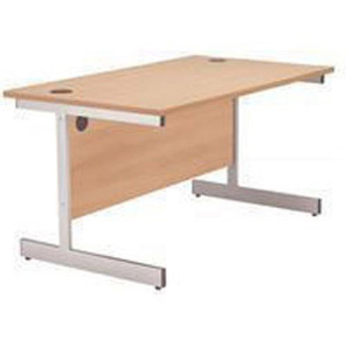 Jemini 1800mm Cantilever Rectangular Desk Beech