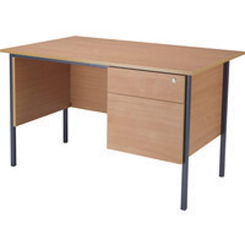 Jemini 1200mm 4 Leg Desk with 2 Drawer Pedestal Beech