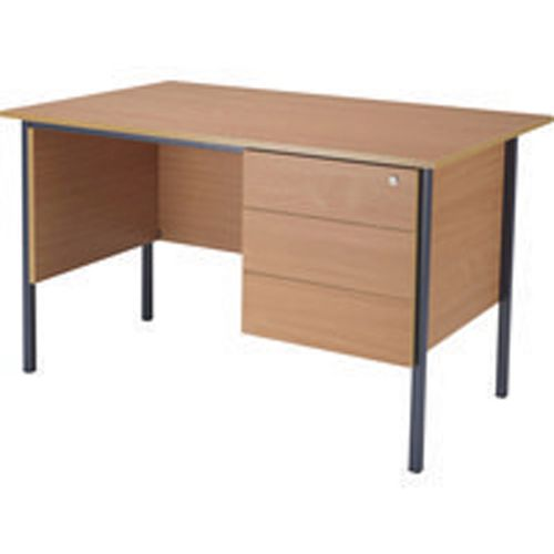 Jemini 1200mm 4 Leg Desk with 3 Drawer Pedestal Beech