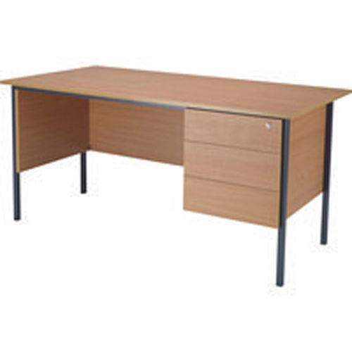 Jemini 1500mm 4 Leg Desk with 3 Drawer Pedestal Beech