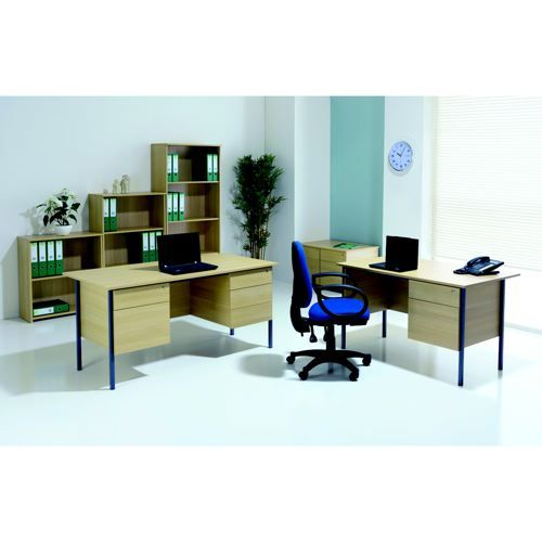 Jemini 1500mm 4 Leg with Double Pedestal Desk Beech