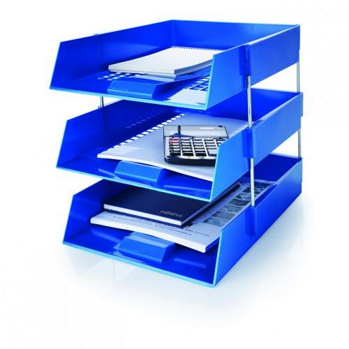 Initiative Plastic Letter Tray Blue [Alternative Picture 1]