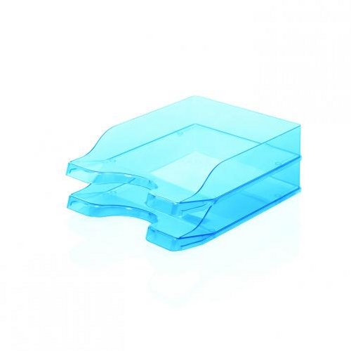 Initiative Contemporary Letter Tray Ice Blue