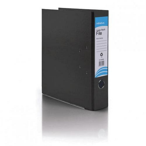 Initiative Lever Arch File Foolscap Black [Pack of 10]