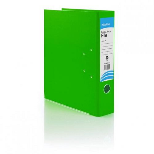 Initiative Lever Arch File A4 Green [Pack of 10]