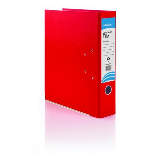 Initiative Lever Arch File Foolscap Red [Pack of 10]