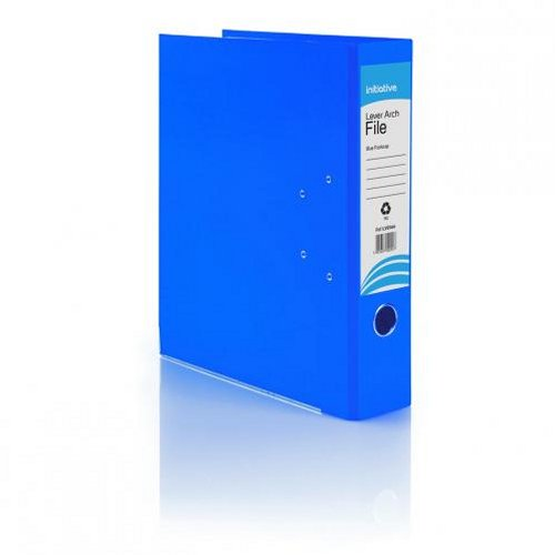 Initiative Lever Arch File Foolscap Blue [Pack of 10]