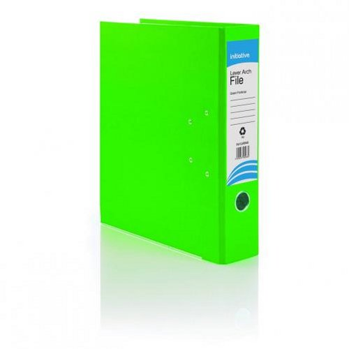 Initiative Lever Arch File Foolscap Green [Pack of 10]