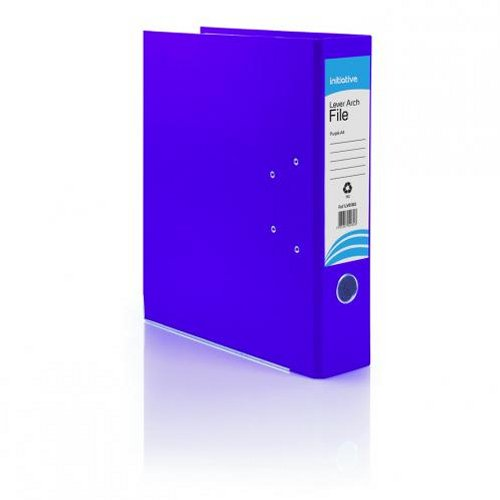 Initiative Lever Arch File A4 Purple [Pack of 10]