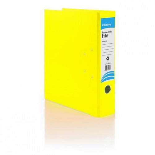 Initiative Lever Arch File Foolscap Yellow [Pack of 10]