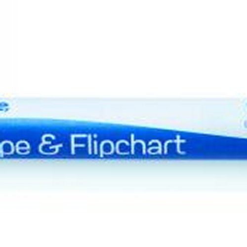 Initiative Drywipe and Flipchart Marker Black [Pack of 10]