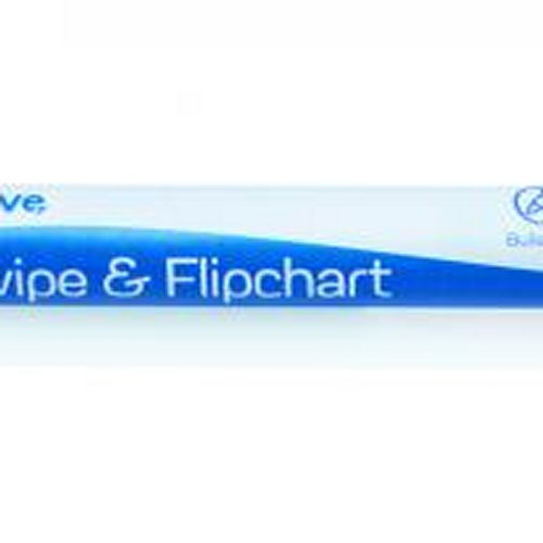 Initiative Drywipe and Flipchart Marker Red [Pack of 10]