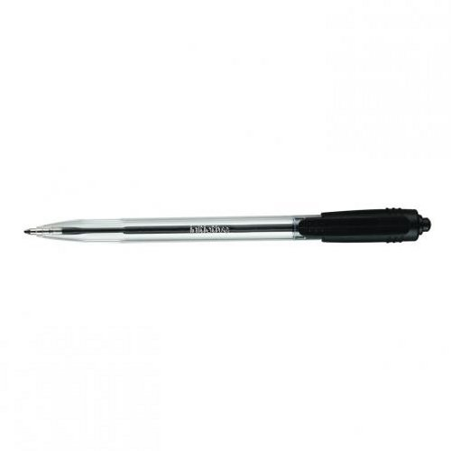Initiative Retractable Ballpoint Pen Black Medium [Pack of 10]