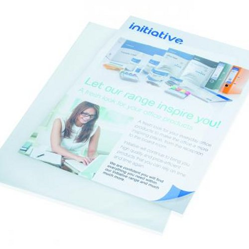 Initiative A4 Clear Embossed Plastic Folders [Pack of 100]