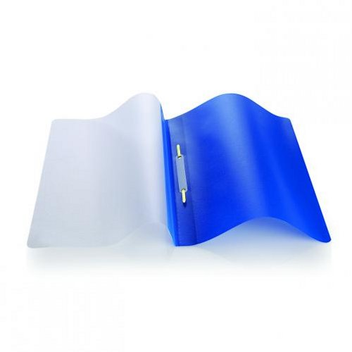 Initiative Polypropylene Report File with Clear Cover A4 Blue [Pack of 25]