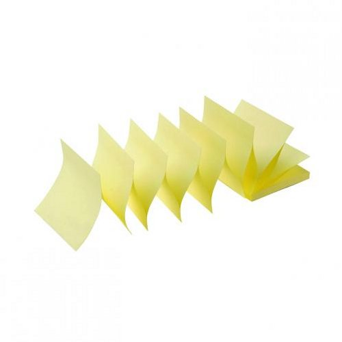 Initiative Sticky Z-Notes 76x76mm Yellow [Pack of 12]