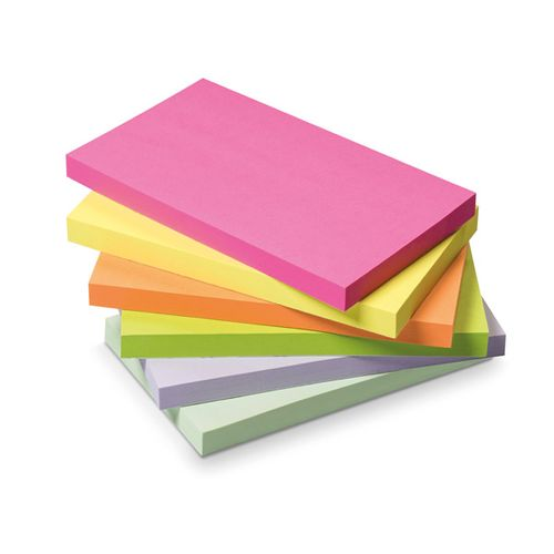Initiative Sticky Notes Neon 76x127mm [Pack of 12]
