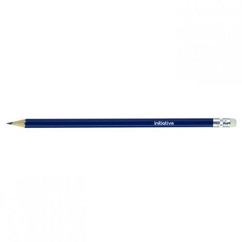 Initiative HB Eraser Tip Pencil with Blue Hexagonal Barrel [Pack of 12]