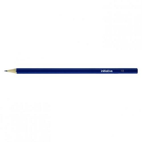 Initiative HB Pencil with Blue Hexagonal Barrel [Pack of 12]