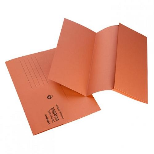 Initiative Document Wallet Foolscap Mediumweight Orange [Pack of 50]