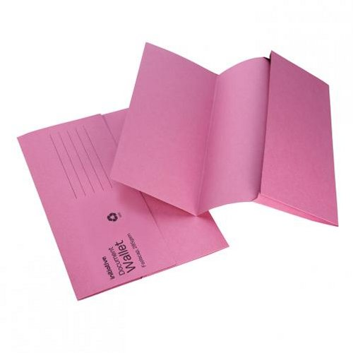 Initiative Document Wallet Foolscap Mediumweight Pink [Pack of 50]