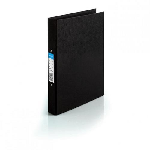 Initiative Polypropylene Coated 2 Ring Binder A4 Black [Pack of 10]