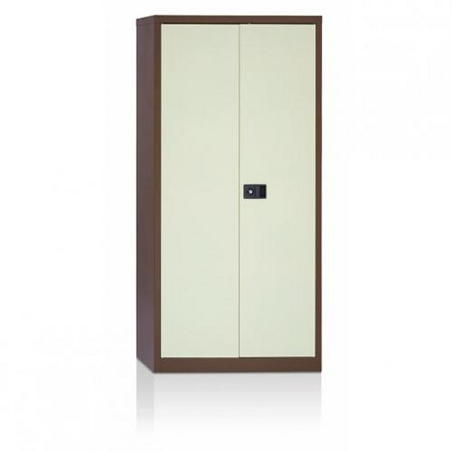 Initiative Stationery Cupboard 1792mm 3 Shelves Coffee and Cream