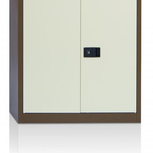 Initiative Stationery Cupboard 992mm 1 Shelf Coffee and Cream