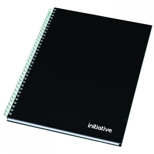 Initiative Hardback Twinwire Notebook A4 Ruled and Perforated [Pack of 5]