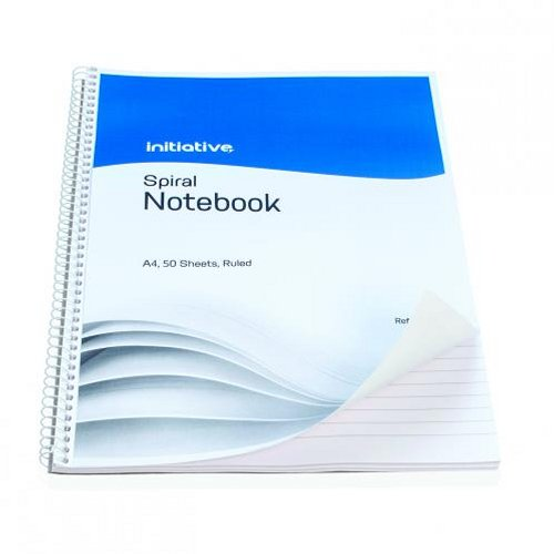 Initiative Spiral Notebook Ruled A4 [Pack of 10]