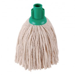 2Work 12oz PY Smooth Socket Mop Green [Pack of 10]