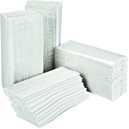 2Work Hand Towels 2 Ply White C-Fold 310x225mm [Pack of 2355]