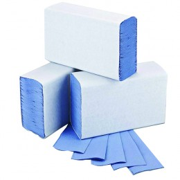 2Work 1 Ply Blue M-Fold 242x240mm [Pack of 3000]