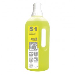 Dose It S1 Odourless Sanitiser 1 Litre [Pack of 8]